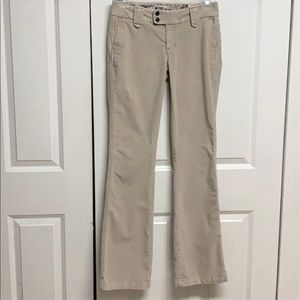 Gap Corduroy Pants Size 4 Long & Lean Beige